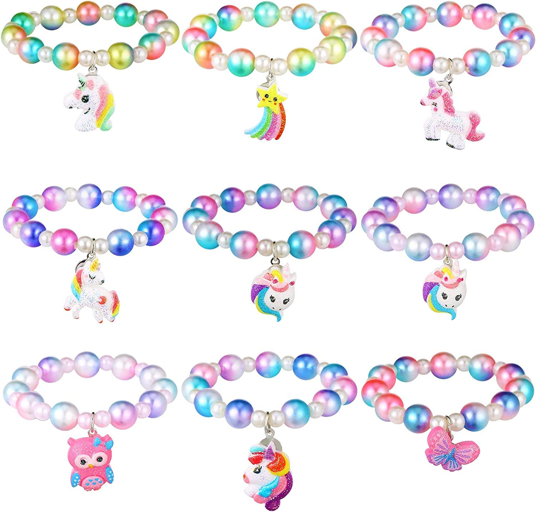 9 Max 88% OFF Pieces Unicorn Bracelet Beads Pe Factory outlet Bracelets Set