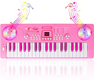 Shayson Kids Piano Keyboard, 37 Keys Electronic Piano Keyboard with Microphone Educational Toys Gifts for Toddlers Kids Bi...