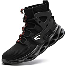 Arillwe Steel Toe Boots for Mens Womens, Steel Toe Sneakers Lightweight Slip-Resistant Safety Work Shoes Indestructible Industrial Construction Sneakers