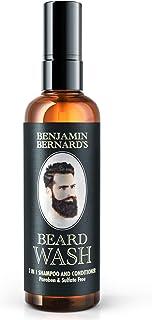 Beard Shampoo - 2-In-1 Shampoo & Conditioner Beard Grooming by Benjamin Bernard - Beard Wash Made with 100% Natural Oils -...