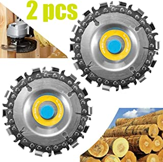 ETBUT 2pcs Circular Saw Blade Cutter Tool, Cordless Saw Blades Cutter for 100/115 Angle Grinder, Disc Plunge Wood Cut Wheel, Chain 14 Teeth Fine Cutting Set Carbide Chop Saws for Wood (14 Teeth)