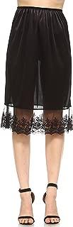 Melody Long Satin Half Slip Skirt Extender- Underskirt Skirt, Dress Extender for lengthening and Layering