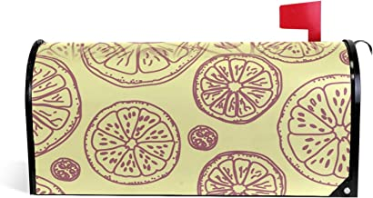 Fruit Oranje Patroon Magnetische Postbus Cover Tuin Home Decor Oversized 25,5 x 18 Inch