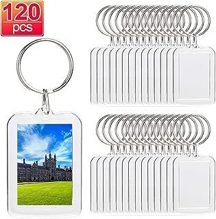 120pcs Custom Personalised Insert Photo Acrylic Blank Keyring Keychain Wholesale(Size:2