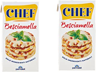 Chef: Italian Besciamella (Béchamel Sauce) 16.9 Fluid Ounce (500ml) Packages (Pack of 2) [ Italian Import ]