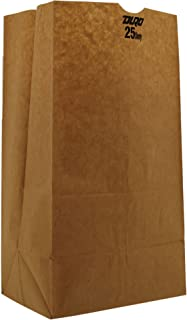 Duro ID# 18428 25# Short SOS Bag 40# 100% Recycled Natural Kraft 500pk 8-1/4 x 6-1/8 x 15-7/8 (Case of 500 Bags)