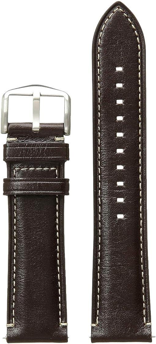 S221245 Silver Dark Brown Leather