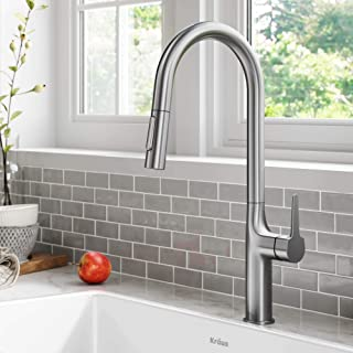 Kraus KPF-3101SFS Oletto Modern Pull-Down Single Handle Kitchen Faucet, 19.5 inch, Spot Free Stainless Steel