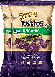 Tostitos Organic Blue Corn Tortilla Chips USDA Organic Non GMO Gluten Free 8.25 oz (2)