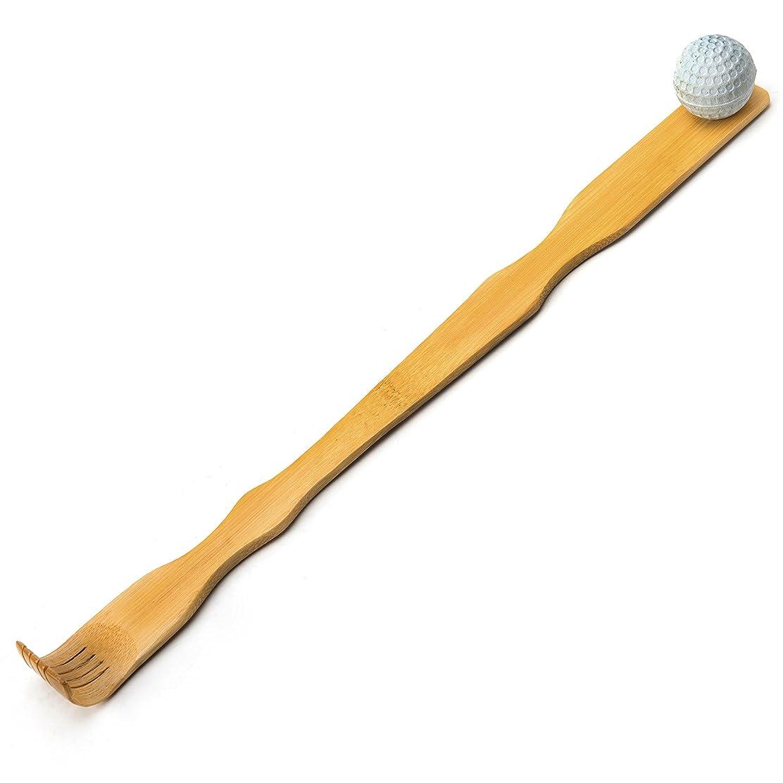 暗黙ラケット顔料TungSam 竹製孫の手一本 背中かゆみを止め マッサージ用,マッサージボール付き