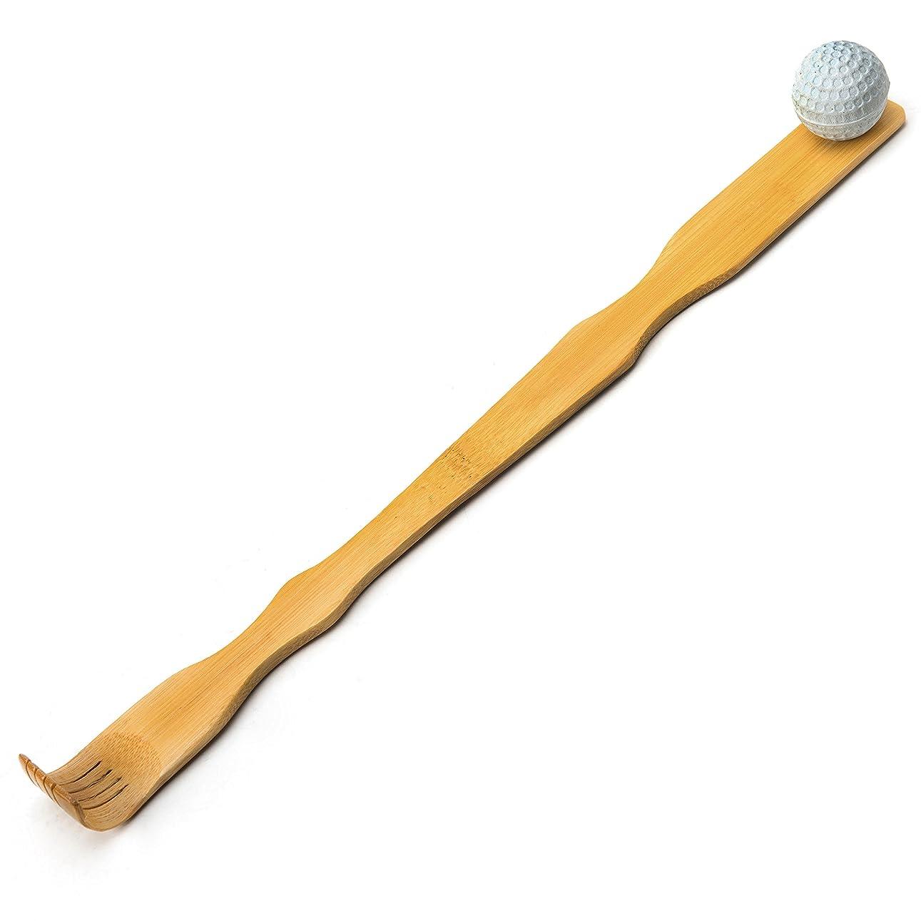 クラシカルブレイズおそらくTungSam 竹製孫の手一本 背中かゆみを止め マッサージ用,マッサージボール付き