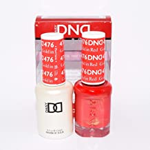 DND Soak Off Gel Polish Dual Matching Color Set 476, Gold in Red by DND Duo Gel