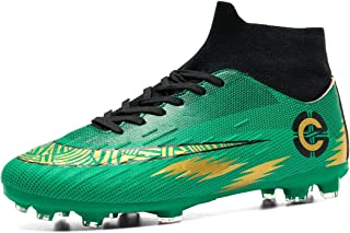 Donbest Mens Football Boots Cleats Soccer Shoes Professional Spikes Football Competition Shoes Training Boy's Sneakers
