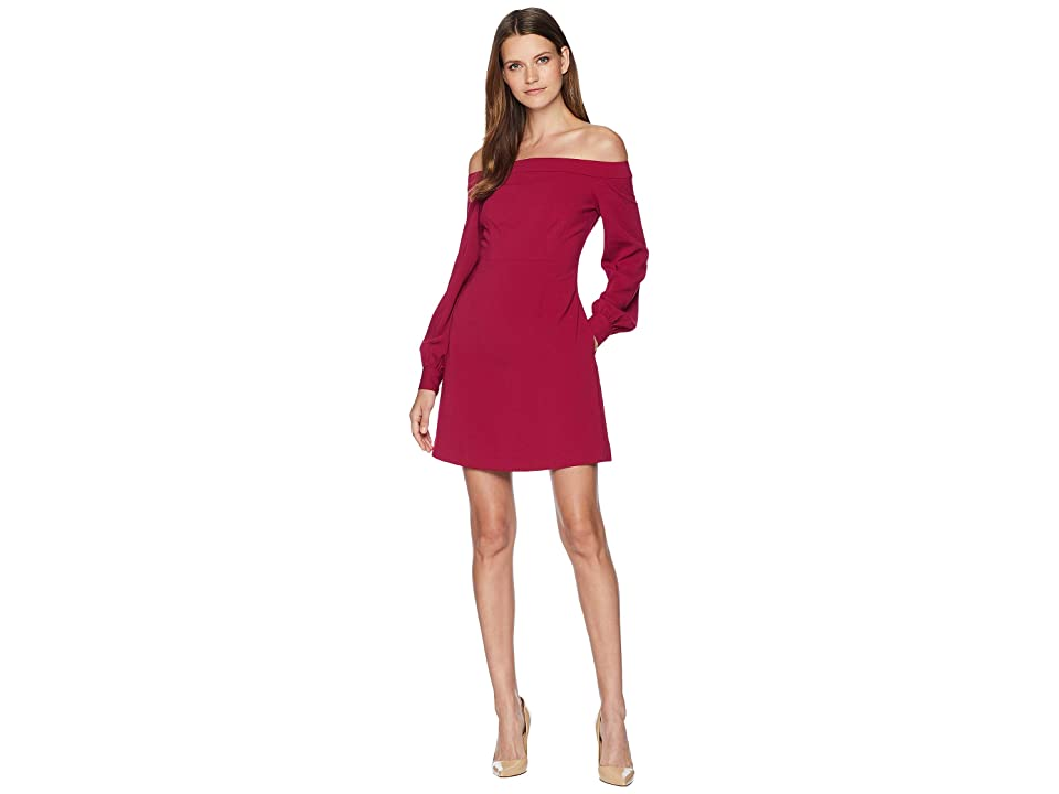 JILL JILL STUART Off the Shoulder Cocktail Dress (Wineberry) Women