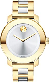 Women's BOLD Iconic Metal 2-Tone Watch with Flat Dot Sunray Dial, Gold/Silver (Model 3600129)