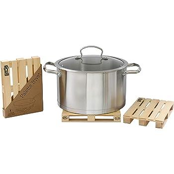 Idee Regalo Originali Design Realistico Mini Bancale per la Cucina MostroMania Utensili in Legno Sottopentola in Legno a Forma di Pallet Diciture Ufficiali EUR ed EPAL