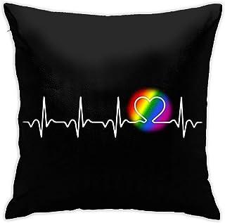 FETEAM Throw Pillows Protector Funda de cojín Love Rainbow Gay. Decoración del hogar de la Funda de Almohada Cuadrada para el sofá Cama del sofá