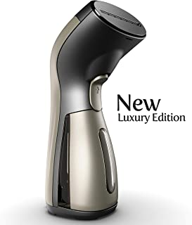 iSteam Luxury Edition Steamer 7-in-1 Powerful: Clothes Wrinkle Remover- Clean- Care- Refresh- Treat- Defrost and More. for Garment- Home- Kitchen- Bathroom- Face- Travel [MS208 Gold]