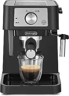 ماكينة تحضير القهوة مزودة بمضخة من ديلونجي، بقدرة 1100 واط وخزان بسعة 1 لتر، لون اسود - طراز DLEC260.BK