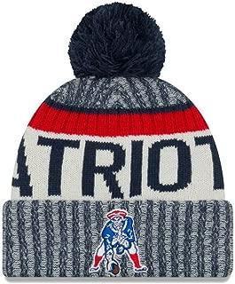 New England Patriots Throwback Logo Sideline Sports Knit Pom Beanie One Size Fits All Hat Cap