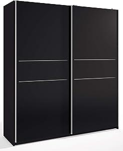 Miroytengo Armario ropero Grande Dormitorio Matrimonio 2 Puertas correderas Color Negro 182x201x54 cm