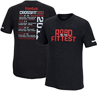 "Reebok Crossfit 2011""Road to The Fittest Men's Black Tri-Blend Premium T-Shirt"