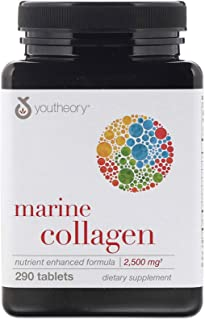 Hydrolyzed Fish Marine Collagen Skin Joints Bones 2500 mg 290 Tablets