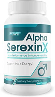 Alpha Serexin X - Male Performance Enhancement Pills - Support Youthful Energy, Drive, Stamina, and Motivation - Made with Yohimbe & Ginseng for Ultra Last XXL Power, Focus, and Supreme Vigor -