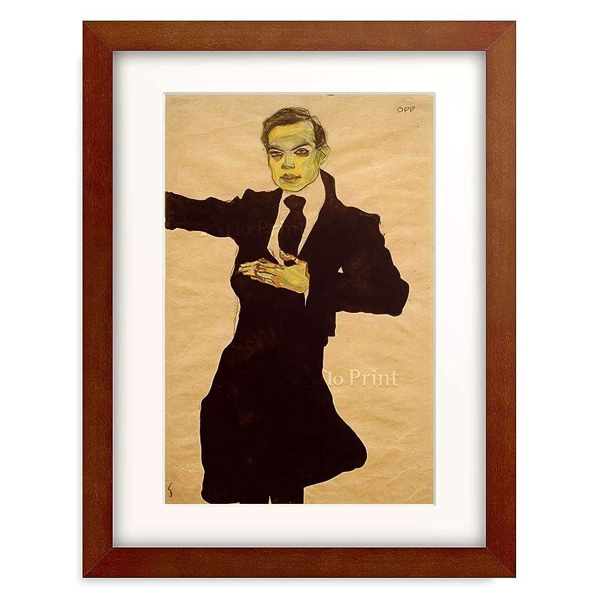 土陪審すべてエゴン?シーレ Egon Schiele 「The painter Max Oppenheimer, Three Quarter Length」 額装アート作品
