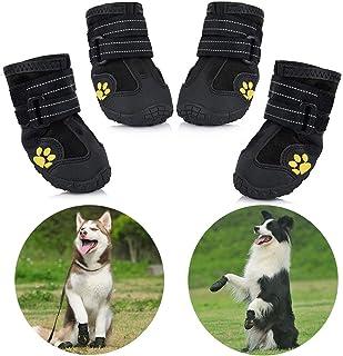 Zapatos para Perros, 4 Pcs Impermeable Zapatos Perro para