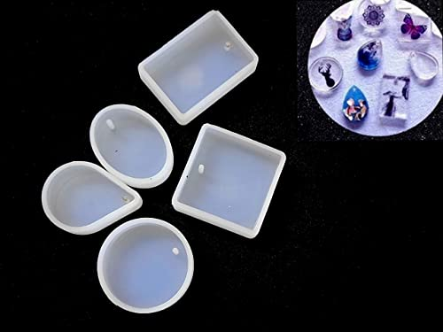 Khushi Handicrafts Jewelry Making Molds Silicone Mould for Making Pendant, Key Chains, Earrings Resin, Crystal, Caboc...