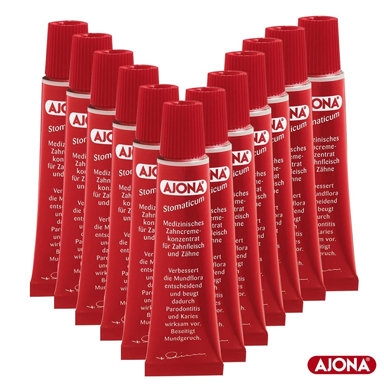 弾薬温度計補うAjona 濃縮歯磨き粉 Stomaticum Toothpaste 25ml(12x 25ml)-12Pack [並行輸入品]