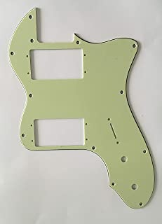 Electric Guitar Pickguard for Classic Series '72 Thinline Tele Style (3 Ply Vintage Green)
