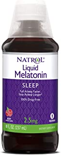 Natrol Liquid Melatonin, Helps You Fall Asleep Faster, Stay Asleep Longer, Faster Absorption, 100% Vegetarian, Berry Flavo...