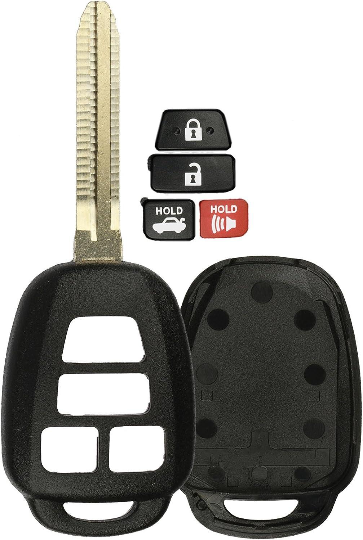 KeylessOption Keyless Entry Remote Uncut Car Blank Key Blade Case ...