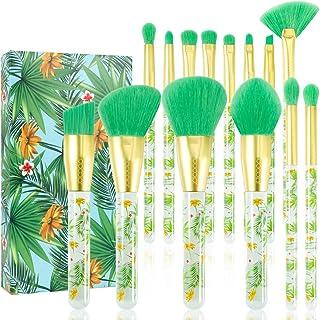 Tropical Makeup Brushes Docolor 14 Pieces Professional Makeup Brushes Set Premium Synthetic...