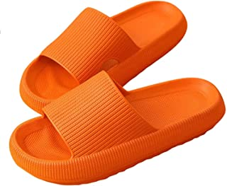 Pillow Slides Slippers, Unisex Shower Sandals with Thick Sole, Ultra-Soft Slippers Extra Soft Cloud Shoes Non-Slip Quick-D...