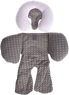 TRYAH Baby 2-in-1 Head Support Car Pillow Head Body Support Dual Sided Use for Car Seats