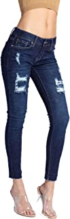 Women's Low Rise Ankle Skinny Jeans - Distressed - KC6050