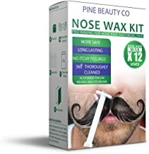 Nose Wax Kit for Men and Women, Hair Removal Waxing Kit for Nose, Ear and Eye-brow Hair..