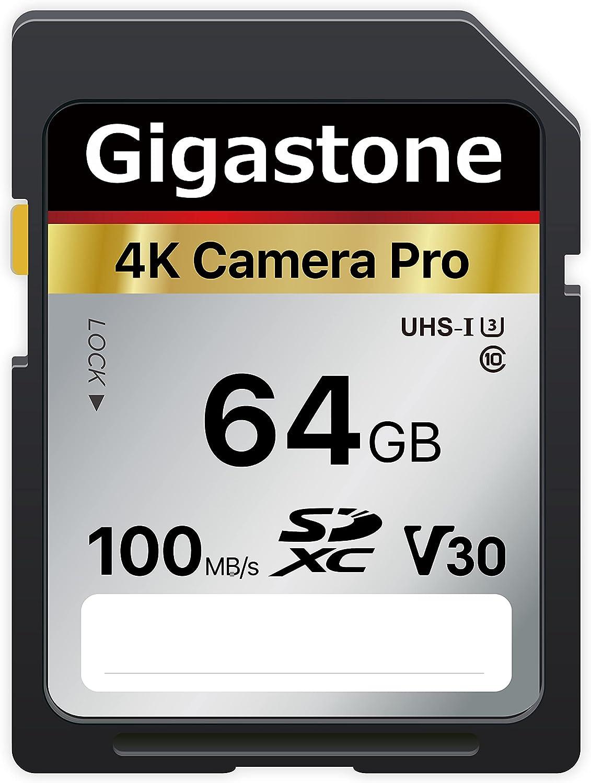 Gigastone 64GB SD Card V30 SDXC Memory Card High Speed 4K Ultra HD UHD Video Compatible with Canon Nikon Sony Pentax Kodak Olympus Panasonic Digital Camera