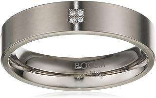 Boccia 女式戒指钛 4 钻石切割 0.02 01011268