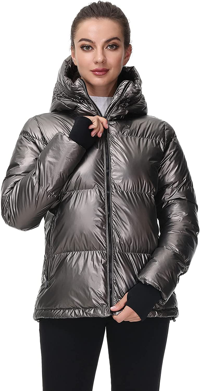 Royal Matrix Women's Lightweight Warm National products Jacke Hooded Puffer quality assurance Winter