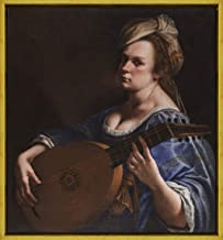 Berkin Arts Framed Artemisia Gentileschi Giclee Canvas Print Paintings Poster Reproduction(Self Portrait as a Lute Player)
