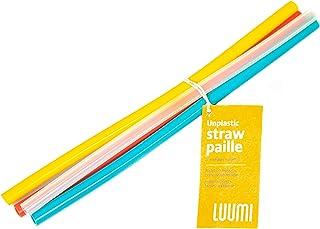 Luumi Unplastic Reusable Silicone Straws –100% Pure Platinum Silicone Straws for Drinking – BPA Free, Durable, Flexible, D...