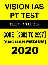 Vision Ias PT Test 1 To 35 (2967 To 2997) English Medium 2020 Printout Test Series