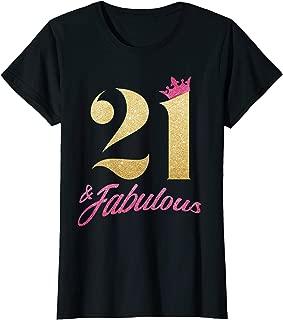 Womens 21 And Fabulous - 21st Birthday 1998 Gift Women T-shirt