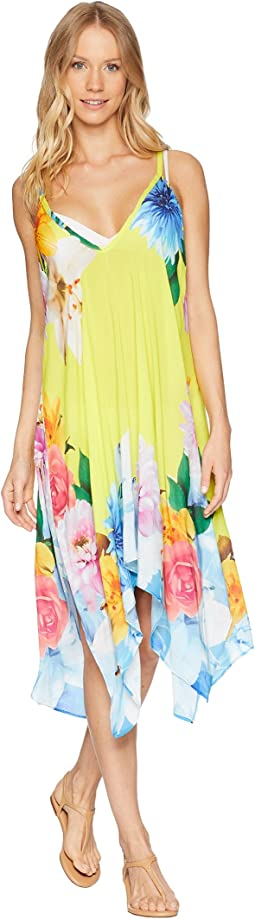Monaco Bouquet Handkerchief Dress Cover-Up