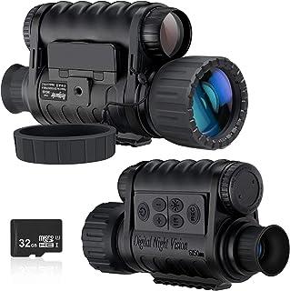 Monocular de visión nocturna, cámara de infrarrojos digital HD de 6 x 50 mm con LCD TFT de 1,5 pulgadas de alta potencia, ...