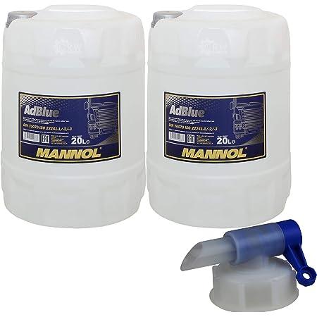 2x 20 Liter Mannol Scr Harnstofflösung Ready To Ude Adblue Inkl Auslaufhahn Auto